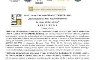UF 2009 Rezoliucija